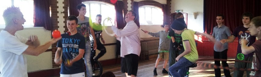 school circus workshops and after school clubs