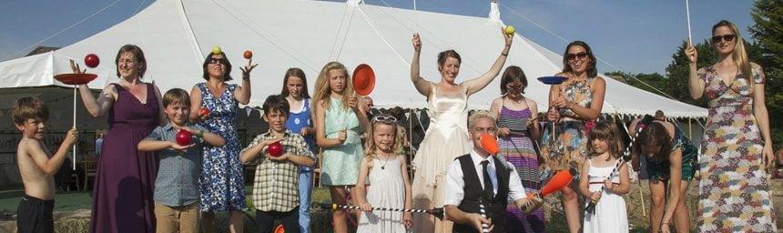 circus wedding entertainment